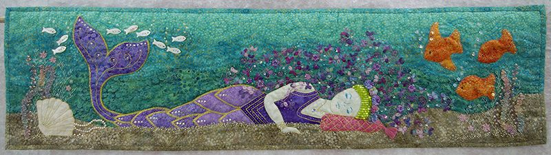 quilter's fancy purple mermaid row by row