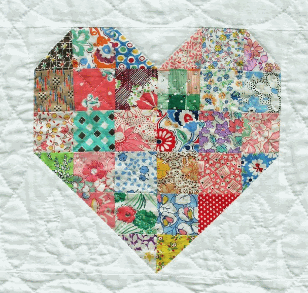 quilted heart block