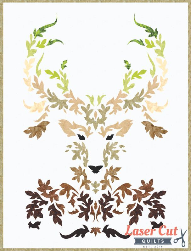 the stag earth - laser cut quilt kit