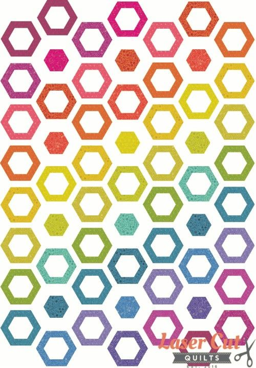 hollow hexies - madi hastings - hexi quilt