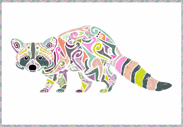 reginald raccoon laser cut quilt kit - madi hastings