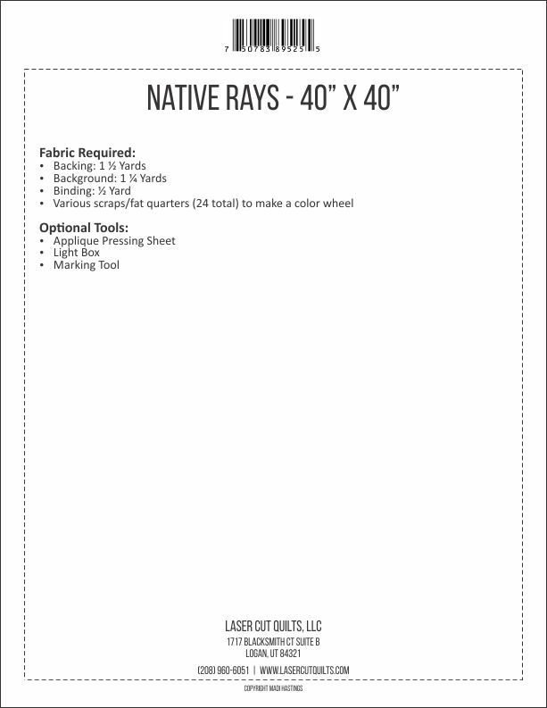 Native Rays Pattern