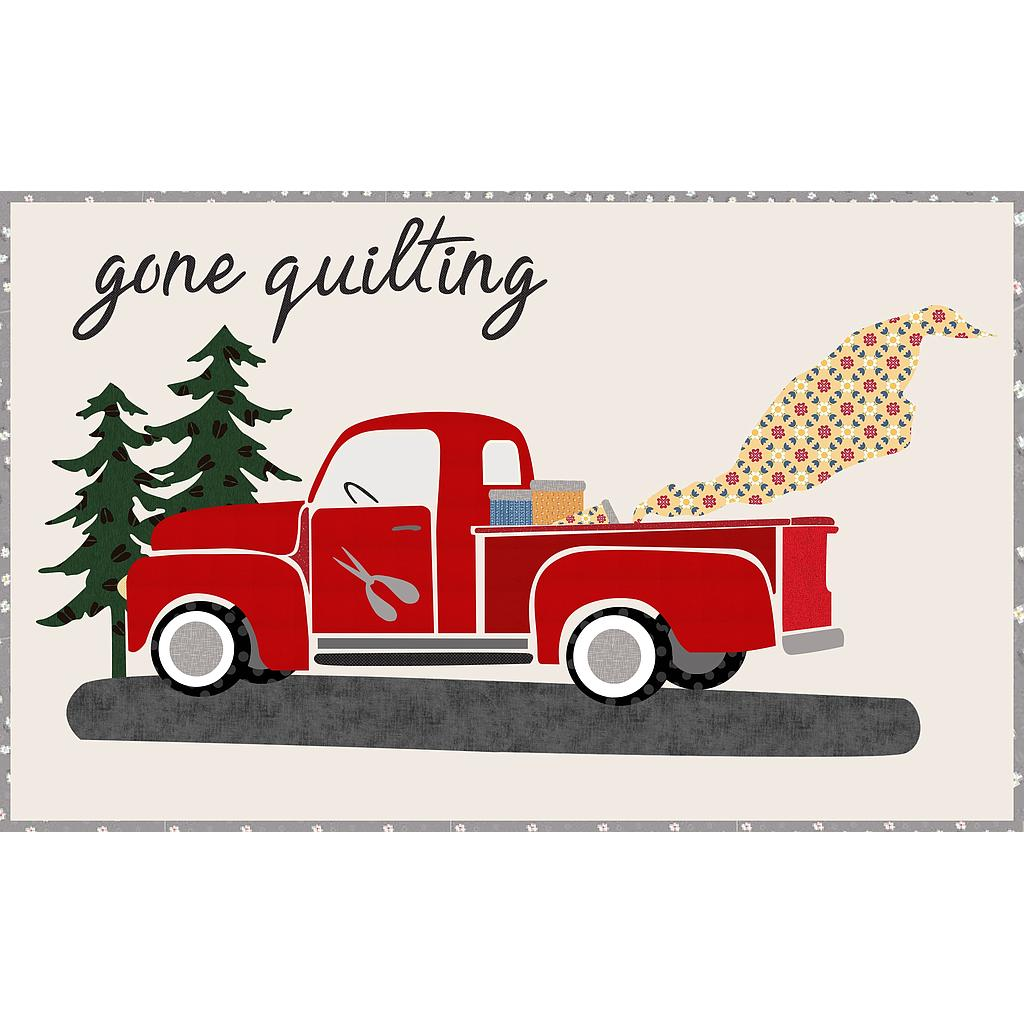 Gone Quilting - Firehouse Red